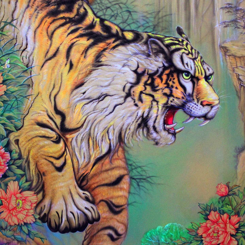 Tiger in the spring